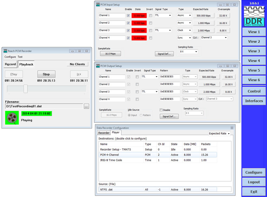 Reach Telemetry Recorder GUI